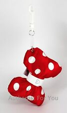 NEW Disney Parks MINNIE MOUSE RED BOW Magic Band Keeper MagicBand Clip Keychain