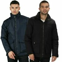 REGATTA MENS HEBSON WATERPROOF HYDRAFORT JACKET BLACK or BLUE RMP237