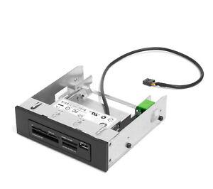 """HP 22-in-1 (USB) Media Card Reader Fronteinschub Einbaurahmen 5,25"""" 698877-001"""