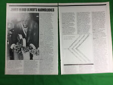 press magazine cutting 1981 James Blood Ulmer's Harmolodics - 2 pages article