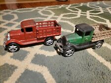 Vntage cast iron toy trucks Lot of 2