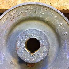 "Congress Tool & Die Vtg 4"" Pulley Machine Gear 4-B Wheel Industrial Steampunk 4B"