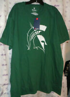$45 Fanatics Official men's Michigan State Spartans 2XL green white knit tee top