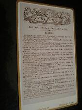 Cdv photograph Births The Times 04/01/1881 by Cantaur Bromley 1880s Rf 50317