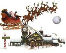 Santa's Sleigh & Workshop Wall Props Christmas Winter Decoration
