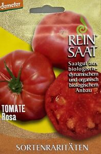 Tomate Rosa Sortenrarität - Saatgut - Samen  - Demeter - aus biologischem Anbau
