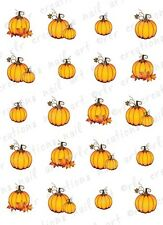 20 THANKSGIVING FALL PUMPKINS ASSORTMENT WATER SLIDE NAIL ART DECALS  AUTUMN