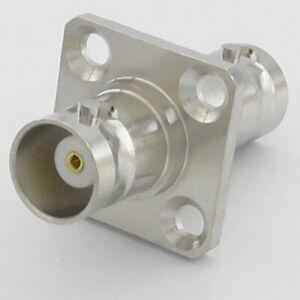 BNC Female - Female Socket Adaptor Bulkhead Chassis Panel Mount Jack 50Ω 50 Ohm