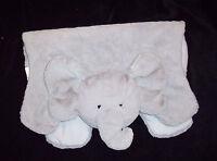 Pottery Barn Kids Grey Elephant Play Blanket Floor Mat Faux Fur Plush NO MONO