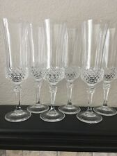 """Lead Crystal Champagne Flutes set of  (6) 8 3/8"""""""