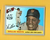 D17971  2016 Topps Archives 65th Anniversary #A65SWM Willie Mays SP GIANTS BK$30