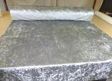 SILVER GREY - Crushed Glitz Velvet Upholstery / Curtain Fabric