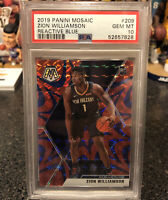2019 Mosaic Zion Williamson Rookie RC Reactive Blue Prizm PSA 10 Gem Mint!!