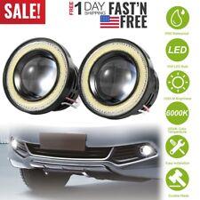 "2X 2.5"" Inch Car Projector Led Fog Light Cob Halo Angel Eye Ring Bulb White Usa(Fits: Neon)"