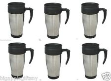 lot 6 x Stainless Steel Insulated Double Wall Travel Coffee Mug CUP 14 OZ NEW!!
