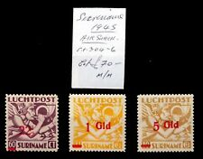 SURINAME 1945 Airmail Surcharges Mounted Mint NC1142