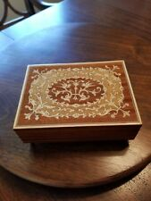 Reuge Inlaid Wood Music Box from Italy