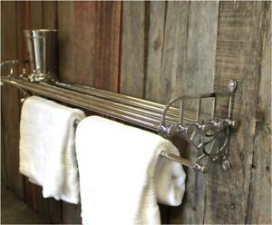 Chrome Train Rack Shelf and Towel Bar Antique Replica - The Kings Bay