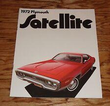 Original 1972 Plymouth Satellite & Road Runner Sales Brochure 72