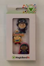 NIB Disney Parks Magic Kingdom Small World Character Magic Band Bandits Set of 3