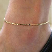 Mode Böhme Golden Fußkette Fußkettchen Fußschmuck Knöchel Fuß Schmuck E9C1