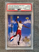 1993 UD SOCCER #HC3 MICHAEL JORDAN HONORARY CAPTAINS GOLD PSA 10 1994 WORLD CUP