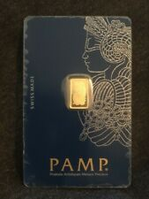 Pamp Suisse Lady Fortuna 1 gram Gold Bar .9999 Assay / Veriscan ONE DAY AUCTION!