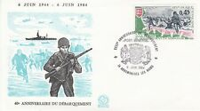 FRANCE : 1984 40th ANNIVERSARY OF D.DAY-ARROMANCHES LES BAINS special cancel