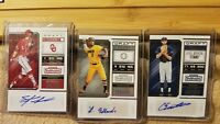 3 Card Rookie Auto Lot of 2018 Contenders Draft Steele Walker White Sox & More