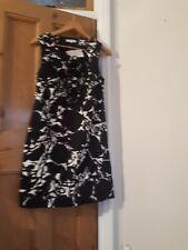 Bnwt Kew Jigsaw Black And White Print Dress Size 10