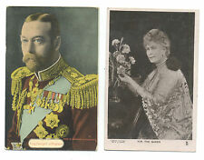 King George V and Queen Mary - 2 different postcards