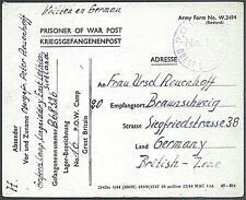 POW Camp 16 Aberlady 1946 German Prisoner of War Kriegsgefangenenpost (A20)