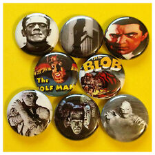 "CLASSIC MONSTERS 1"" buttons pinbacks VAMPIRE WEREWOLF"