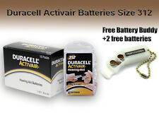40 Duracell Size 312 Hearing Aid Batteries + Free Keychain/2 Extra Batteries