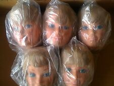 LOT OF 5 LARGE BARBIE DOLL STYLING HEAD MATTEL 1976