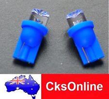 2x T10 Blue 168 194 501 LED Side Car Light Wedge Dished Bulb DC 12V