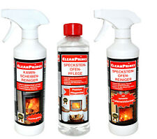 3x 500ml Soapstone Stove Cleaner + Care + Fireplace Cleaner Fireplace Cleaner