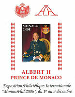 MONACO bloc n° 92, Prince ALBERT II Monacophil, NON DENTELE IMPERF, TB **, RARE