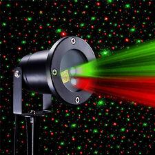 Rot Grün WASSERDICHT LED Laser Laserlicht Projektor Beleuchtung Gartenlicht Xmas