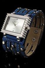 +  Wristwatch °° Nele Fortados  DAMENUHR mit Armband im Jeans-Look  JB010615 a
