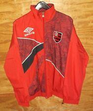 VTG UMBRO C.R. FLAMENGO Soccer Football  Zip Up Red Swaetar Men's size S