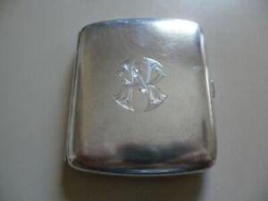 SWEDISH OR NORWEGIAN RARE SILVER 830S CIGARETTE BOX CASE ENGRAVED 1917 VERY GOOD