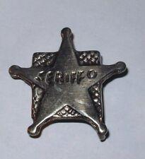 Gürtelschnalle 25 mm (4x4 cm) Sheriff Buckle Western Cowboy Verschluss Kinder