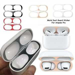For Apple Airpods Pro Metal Dust Guard Protective Slim Case Shell Skin Cover