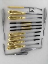 Face Lift Endoscopic Brow Lift Nasal Rasps Plastic Surgery Instrument 15pcs