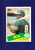 Joe Morgan HOF 1985 TOPPS Baseball #352 (NM) Oakland Athletics