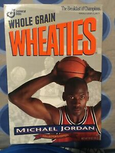 lowest price !   1993   Michael Jordan  WHEATIES Silver Box