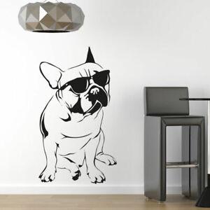 French Bulldog Sunglasses Cute Dog Wall Art Sticker Vinyl Decal Large (AS10082)