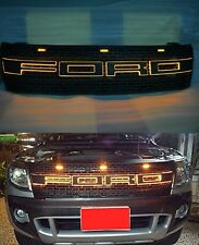 FOR FORD RANGER RAPTOR T6 2012-2014 FRONT GRILLE GRILL AMBER LIGHT LED TEXT BAR