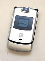 Motorola Razr V3m V3 VERIZON Cell Phone Razor Silver razer flip camera vcast -C-